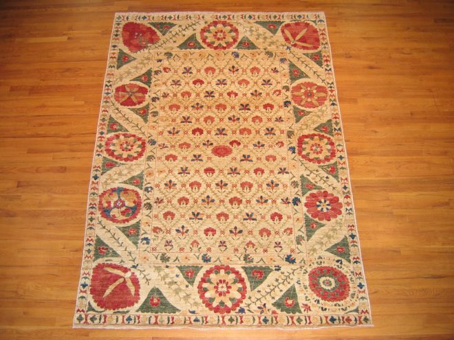 #35938 - Fine Suzani - 6 x 8.7 - Afghanistan  Value:  $5,900