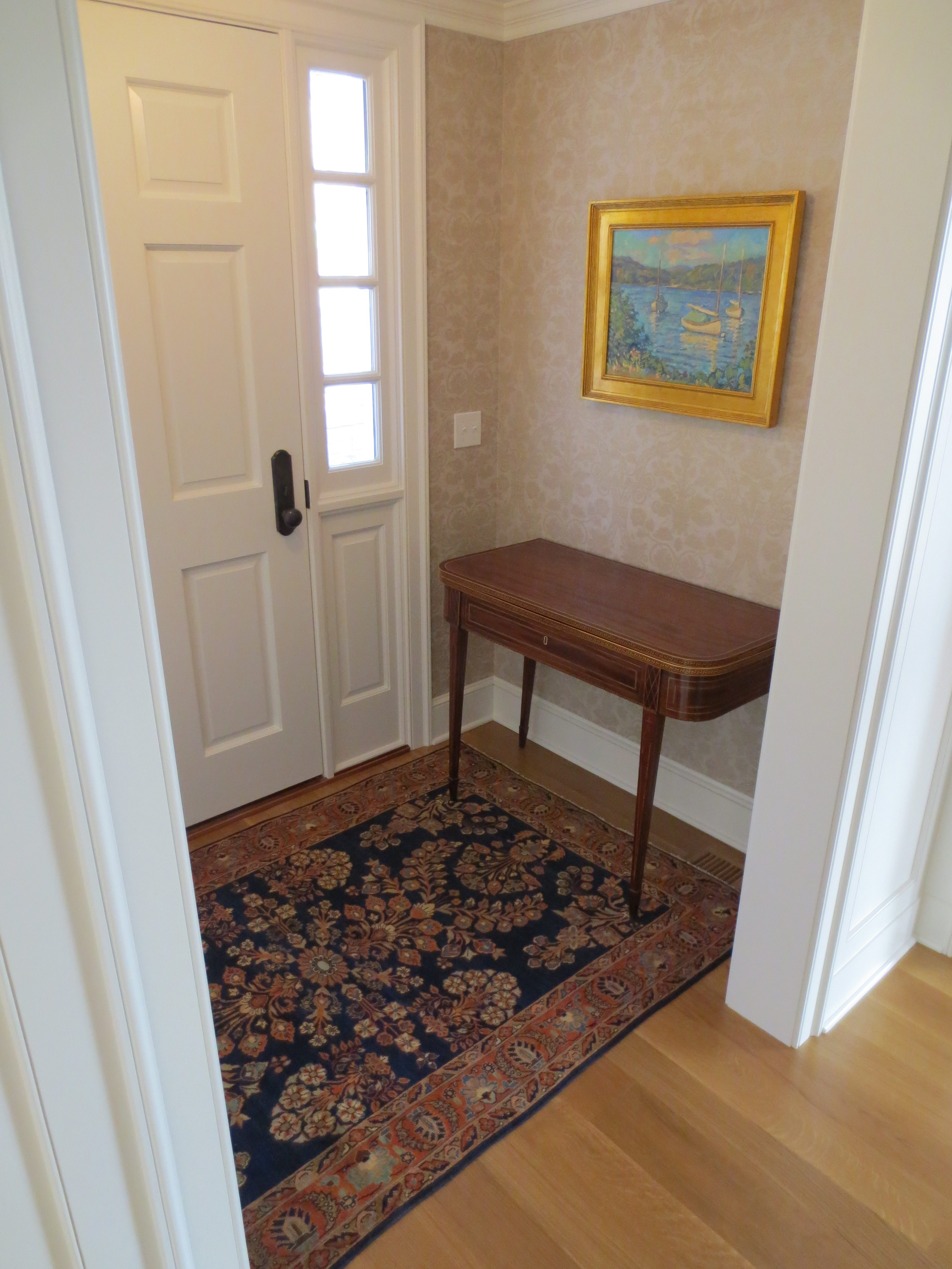 Little Rug Makes Difference In Entryway