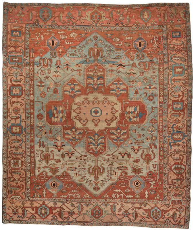 Antique Persian Serapi Square Rug Kebabian S Rugs