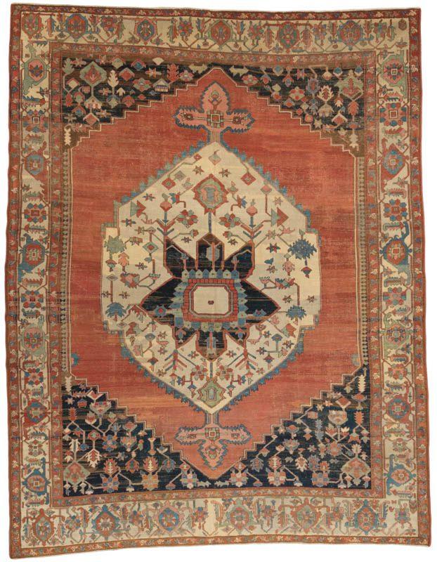 34592-Antique_Persian_Serapi-9'2''x12'0''-Persia