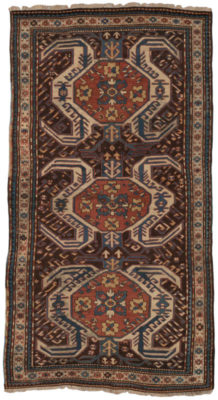 Hand knotted in the 19th century in a village in the Southwest Caucasus, probably by an Armenian woman. This piece would have been woven on a horizontal nomadic loom using the Ghiordes (Turkish/symmetric) knot with wool pile (knots) on a wool foundation (warps and wefts). The word, 'Kazak' means 'rough-rider' and describes a race of restless, roaming, troublesome people. This antique Caucasian rug is in excellent condition for its age. It is a fantastic piece.