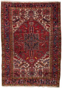 32597-Semi_Antique_Persian_Heriz-5'4''x7'5''-Persia