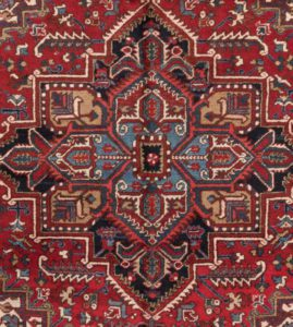 32596-Semi_Antique_Persian_Heriz-8'2''x10'0''-Persia