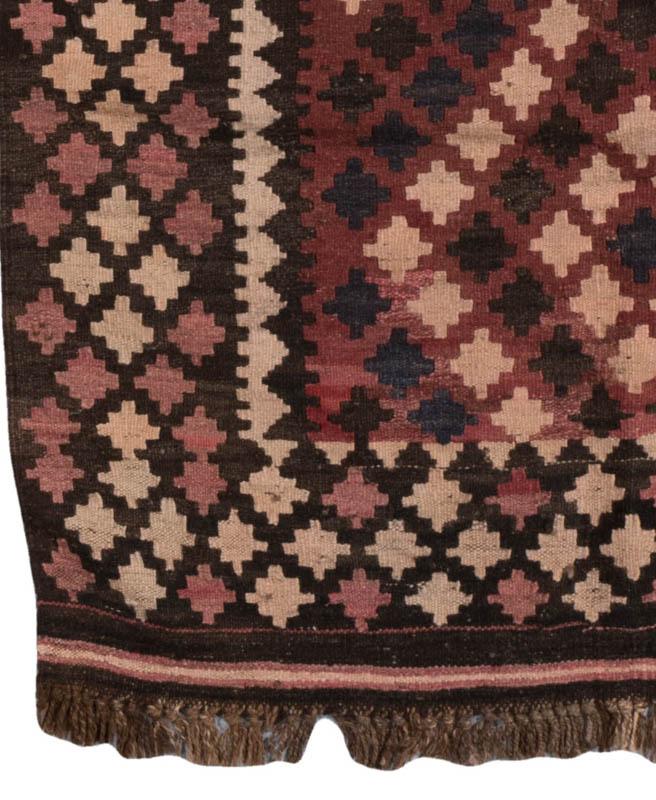 Afghan Maimana Kilim Wide Runner Rug