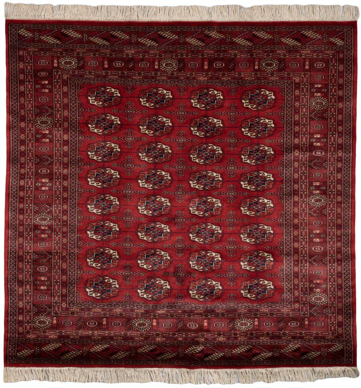 Pakistan Bokhara Rugs In Red: Luxe Bokhara Red Wool Rug