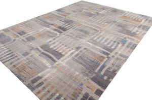 38591-Ultimate_Modern_Verve_Gray_Silver_Ivory_Wool_and_Silk_Rug-9'0''x12'1''-India-3