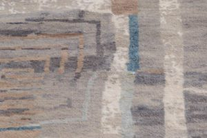 38591-Ultimate_Modern_Verve_Gray_Silver_Ivory_Wool_and_Silk_Rug-9'0''x12'1''-India-6