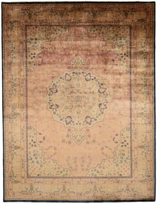 Antiqued lavar rug