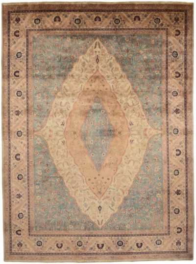 Antiqued tabriz rug