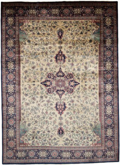 Antiqued sarouk rug