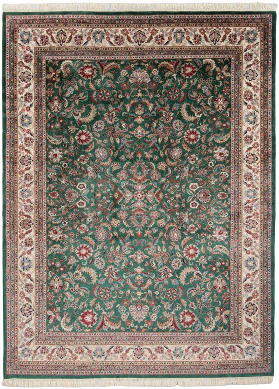 Fine Kashan Green Ivory Wool Rug Kebabian S Rugs