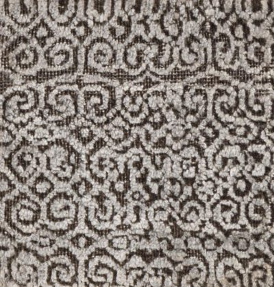 modern sari silk and wool rug