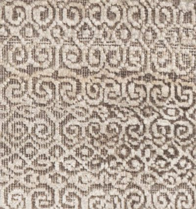 modern sari silk and wool rug