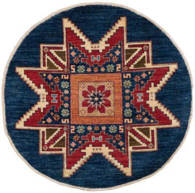 fine kazak round rug