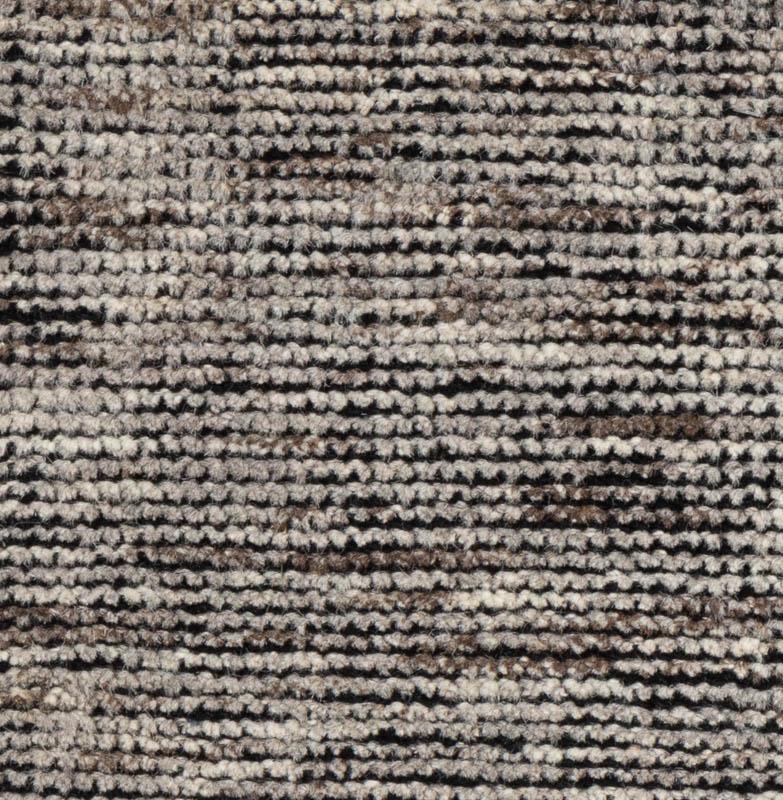 Gray Brown Natural Wool Rug
