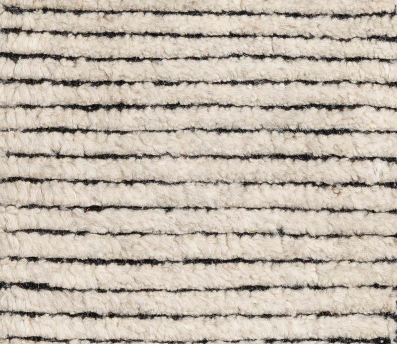 Moroccan Ribbed Ivory Natural Wool Rug