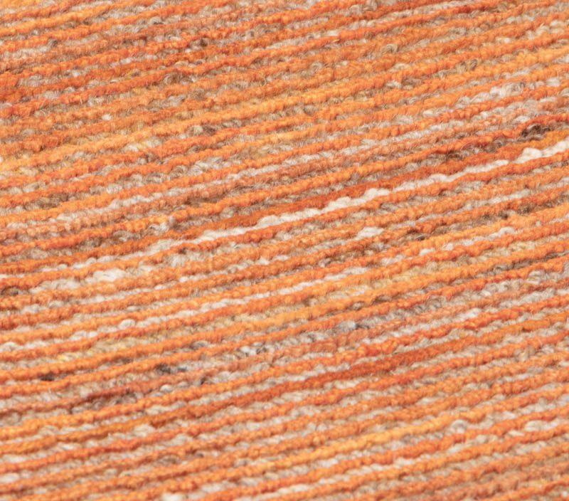 Essential Hand Loomed Bello Orange Viscose/Wool Rug