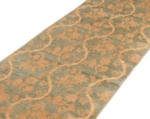 chinoiserie silk and wool rug