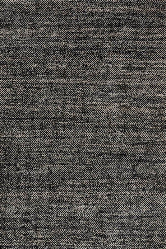 Essential Wool Tweed Black White Rug Touch To Zoom