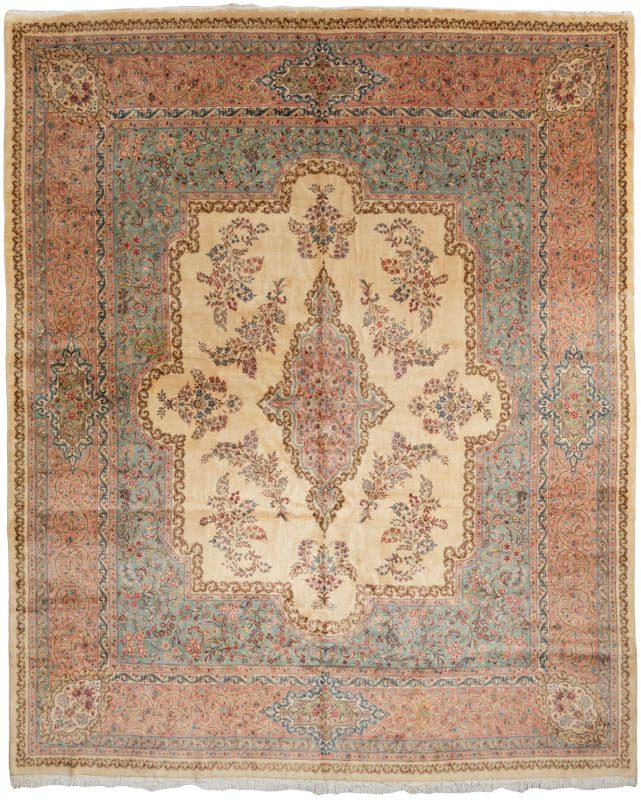 Semi Antique Kerman Persian Wool Rug