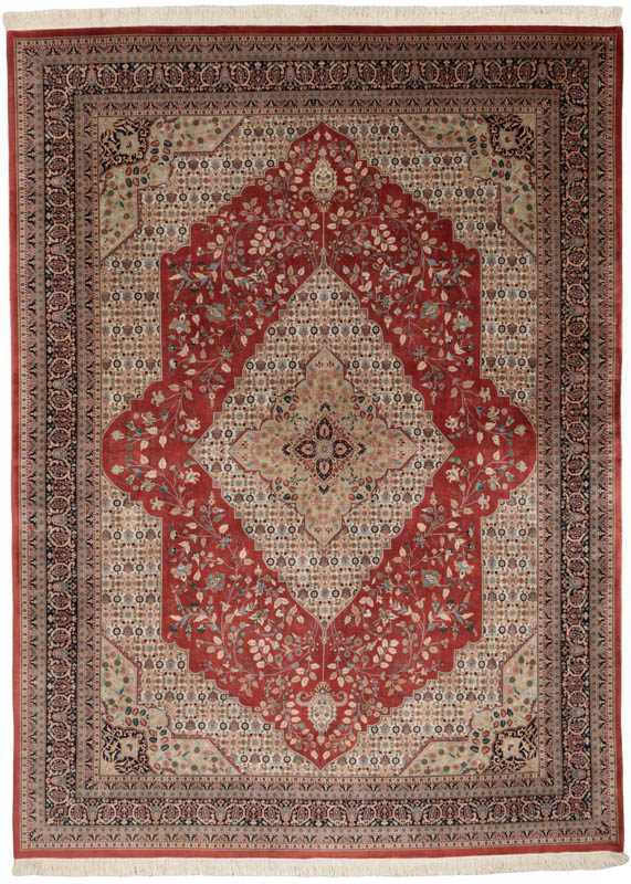 Red Ivory Navy Blue Green Wool Rug