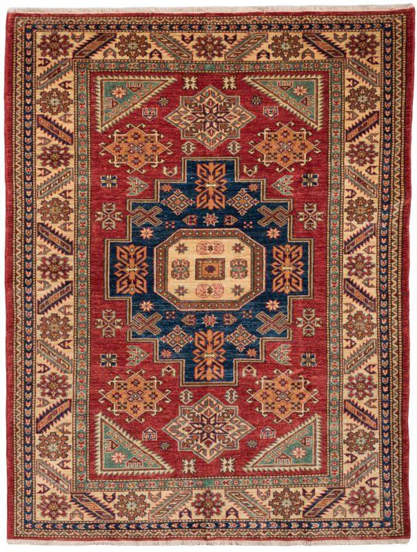 Fine Afghan Kazakh Wool Rug Kebabian