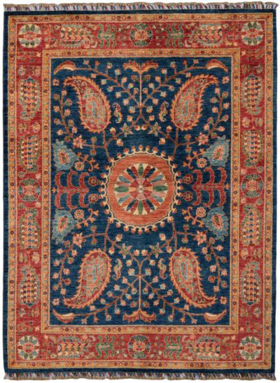ayena suzani wool rug