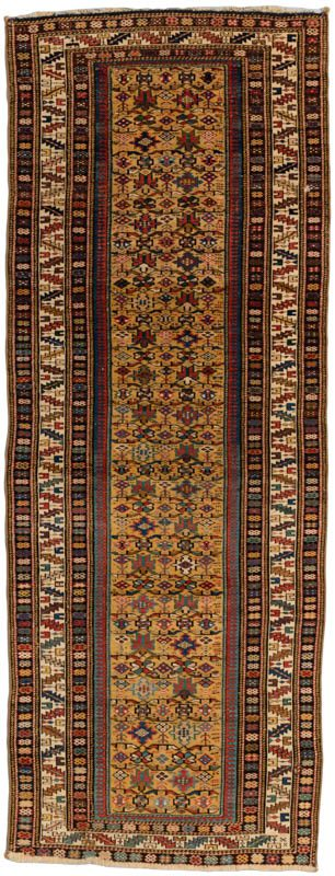 antique kuba runner rug