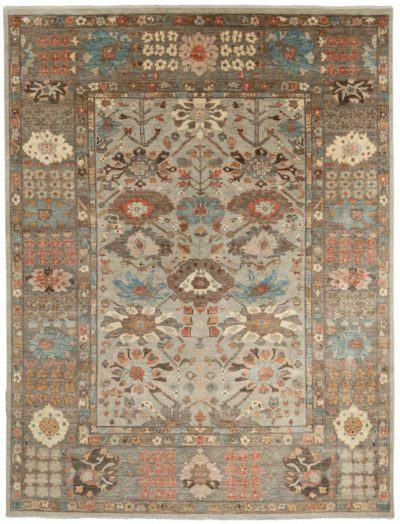 kurdish blossom wool rug
