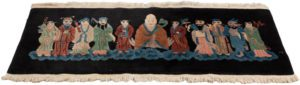 antique chinese immortal gods rug