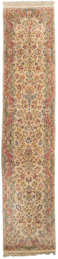 semi-antique persian kerman runner rug