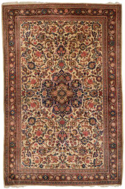 persian kashan semi-antique rug