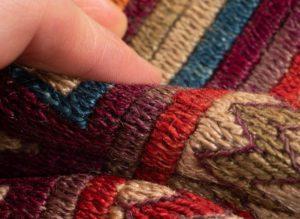 antique caucasian soumak runner rug