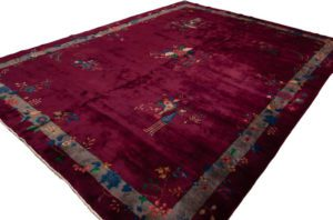 antique chinese wool rug