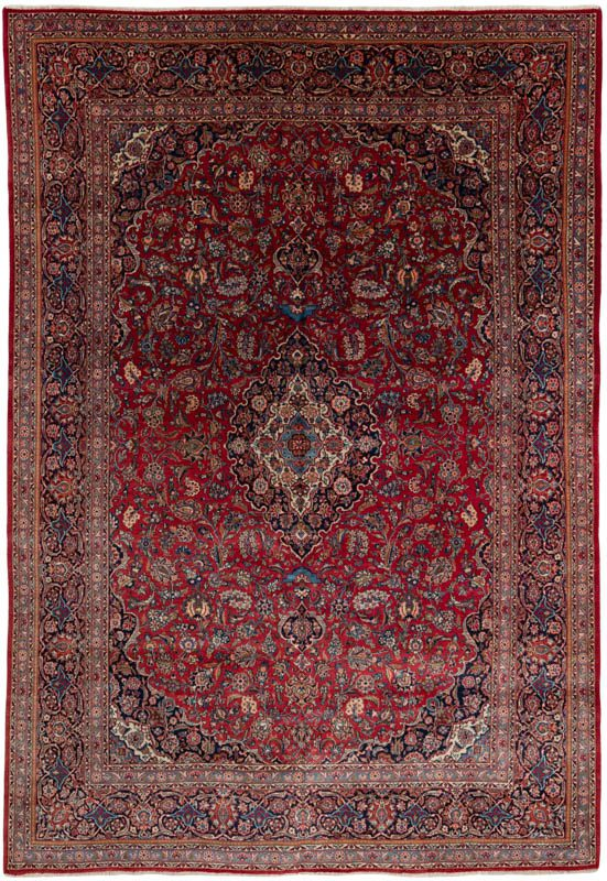 Semi Antique Fine Persian Kashan Rug