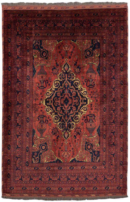 Turkmen Afghan Soft Worsted Wool Rug