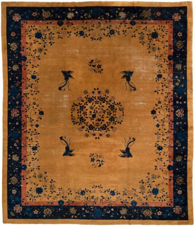 antique chinese oversized wool rug