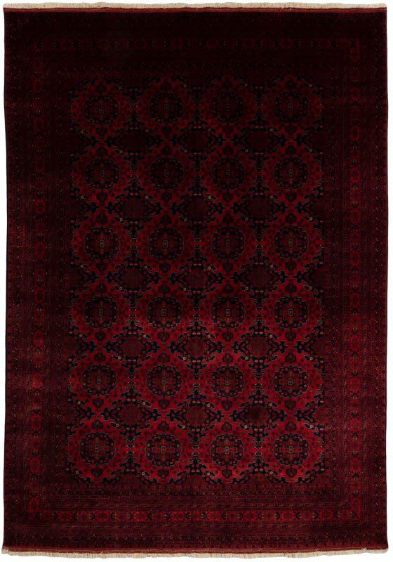 Very Fine Turkmen Afghan Wool Rug