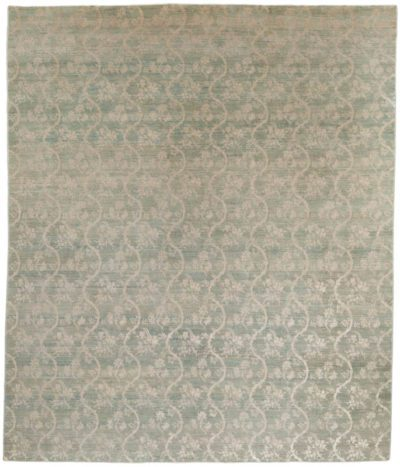 Chinoiserie wool-silk rug