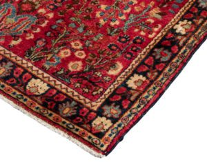semi-antique persian sarouk rug