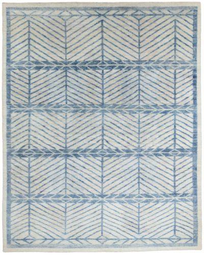 modern scandinavian silk/wool rug