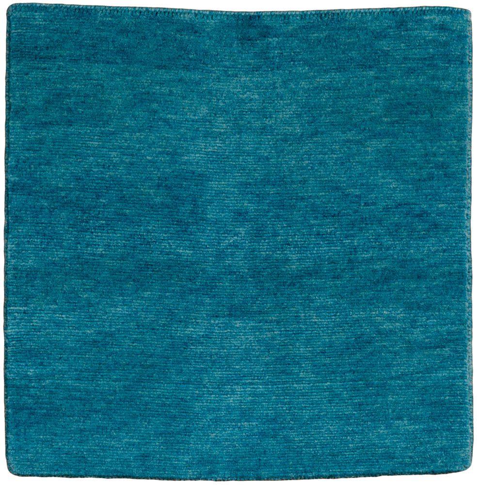 Essential Wool Knotted Modern Cool Blue Rug Kebabian S Rugs