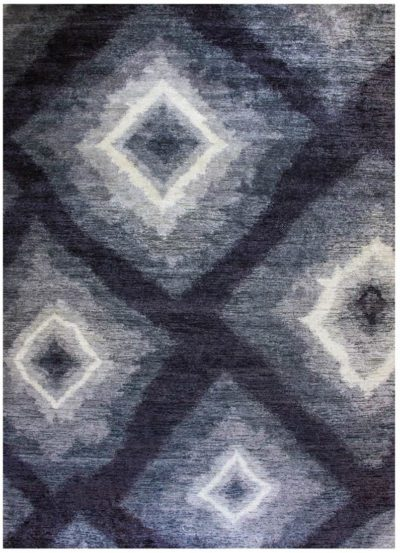 modern silk wool rug