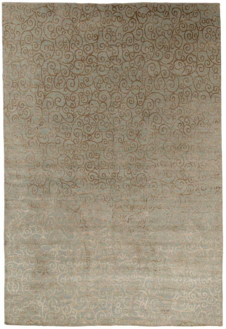 tibetan wool and silk rug