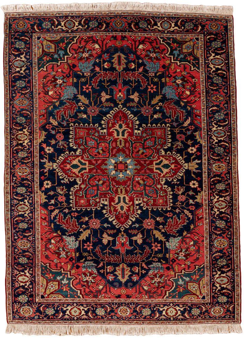 antique serapi wool rug