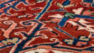 semi-antique persian heriz rug