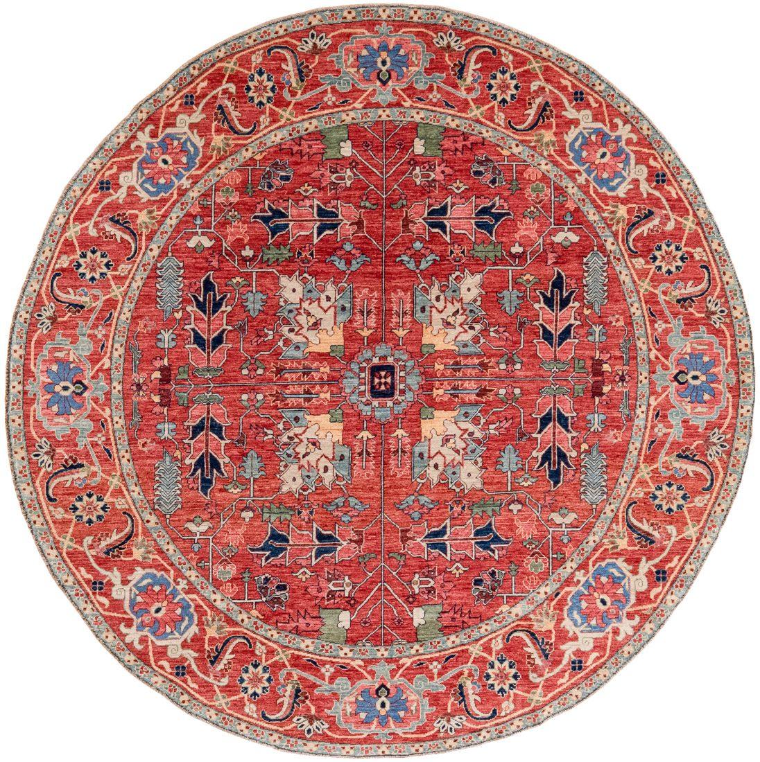 heriz round wool rug