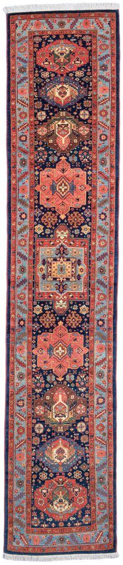 shahsavan wool runner rug