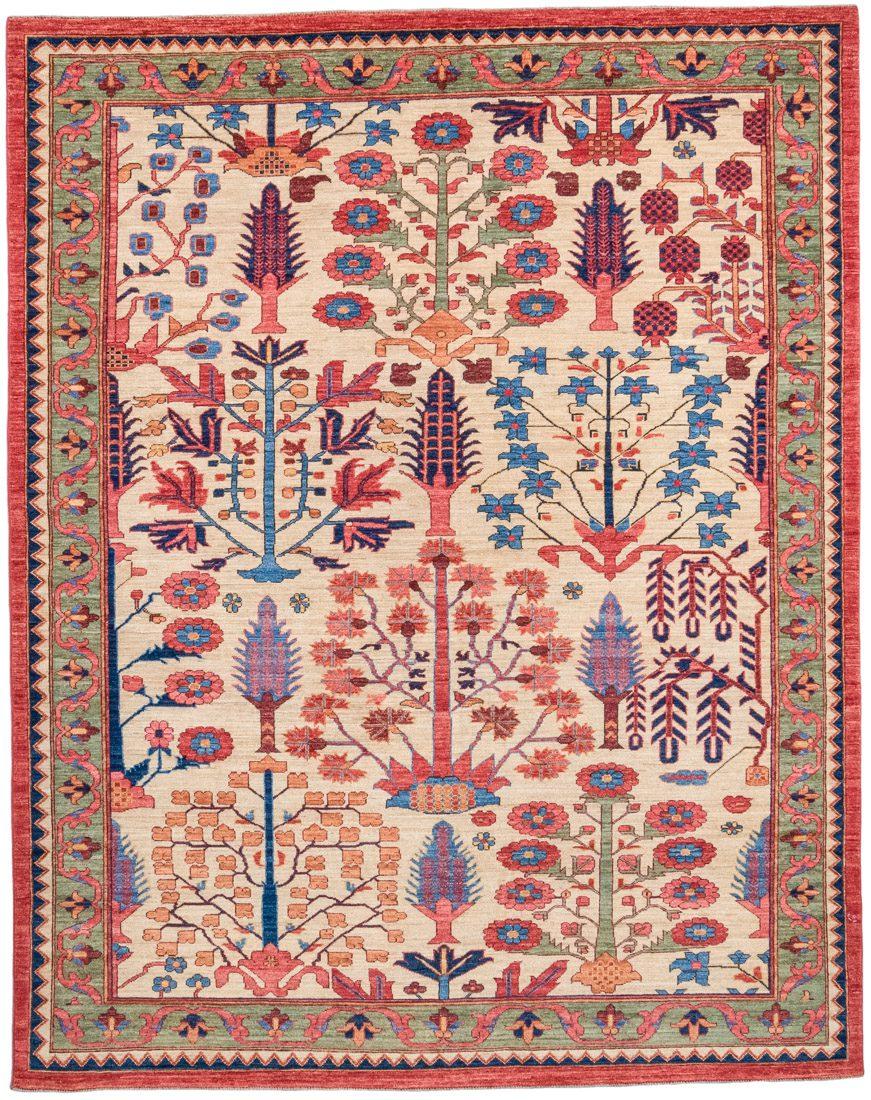bakshaish trees wool rug