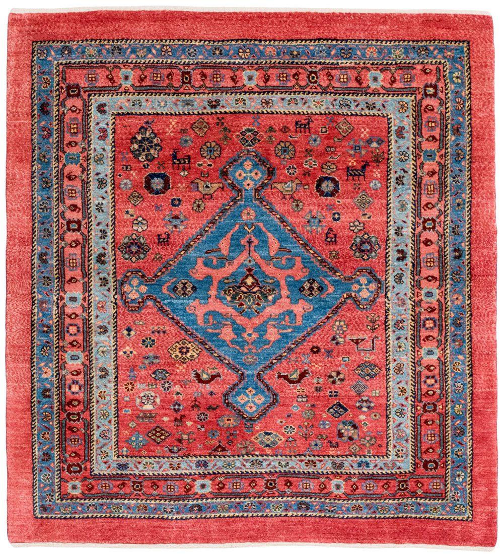 qashqai wool square rug